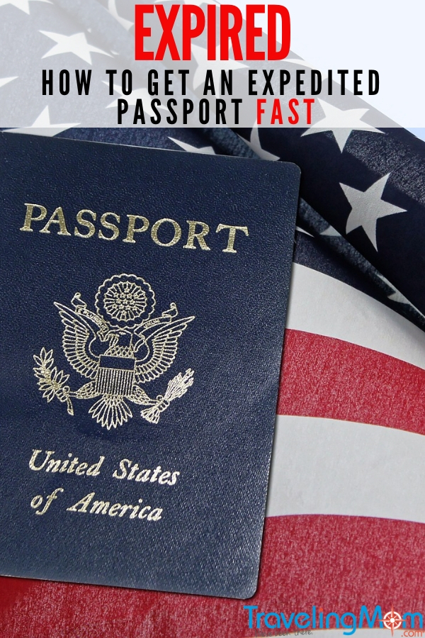 The bags are packed and your U.S. passport is expired. What to do now? Don't freak out, read on for what to do to get a passport fast. All the details for expedited U.S. Passports along with tips in getting a passport in 24 hours. #Travel #Passport #TMOM
