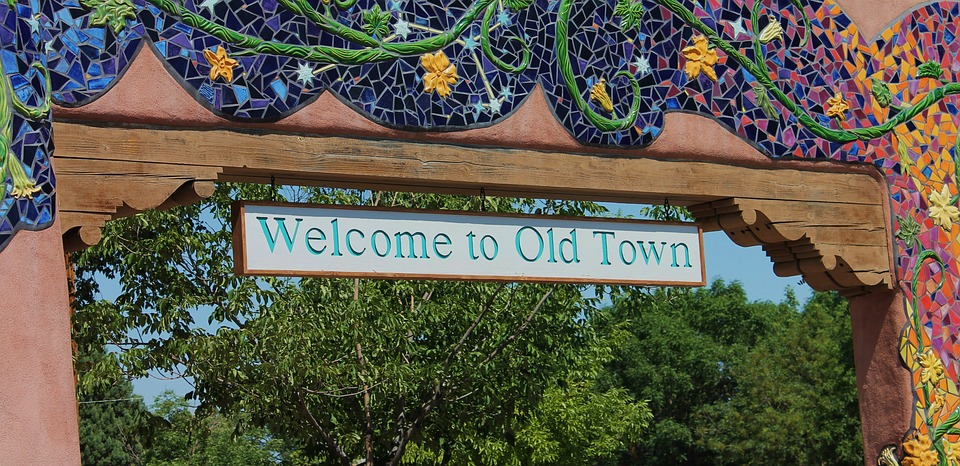 Old Town sign in Albuquerque