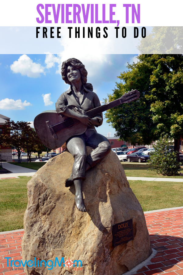 Are you a #dollyparton fan? One of the #free things to do in #seviervilletn is visit her statue