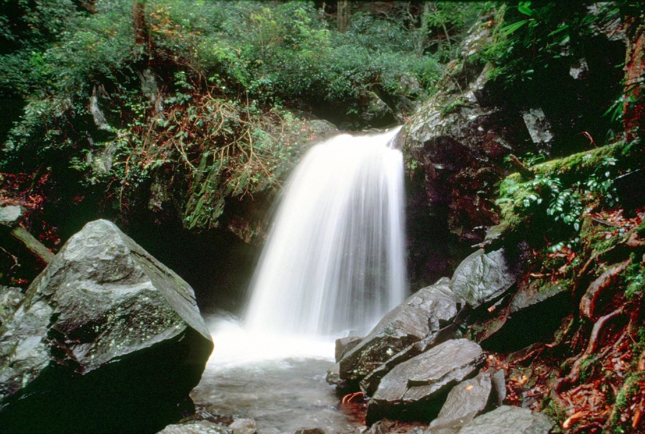 Find waterfalls near Sevierville - one of the free things to do in Sevierville TN