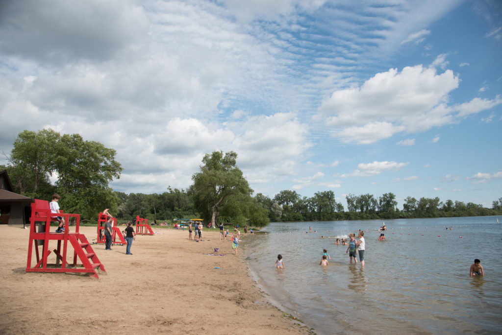 One of the fun things to do in Madison, WI? In good weather check out the beaches along the lake. Kids will love the little playgrounds along Lakeshore Path. Photo Credit: Focal Flame Photography via Visit Madison