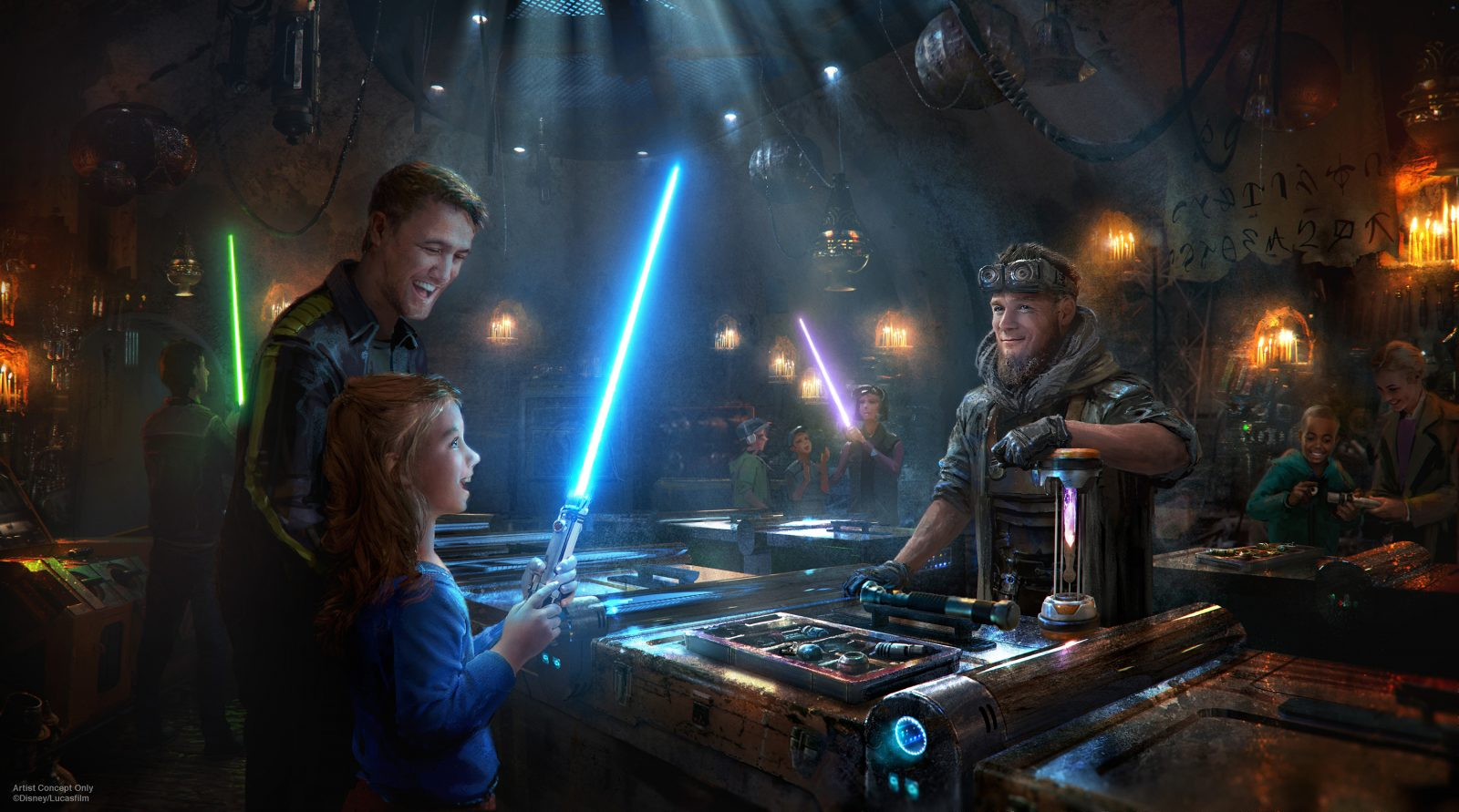 Become a Jedi fighter at Disney's Galaxy's Edge.