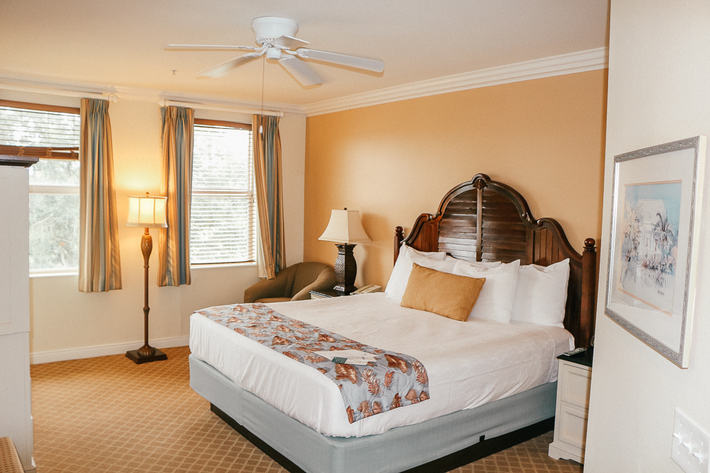 A king bed in a master bedroom is a Disney Vacation Club standard - TravelingMom