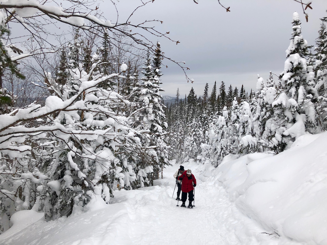 What to do in Saguenay Lac Saint Jean in Winter. Snowshoeing in Monts Valin