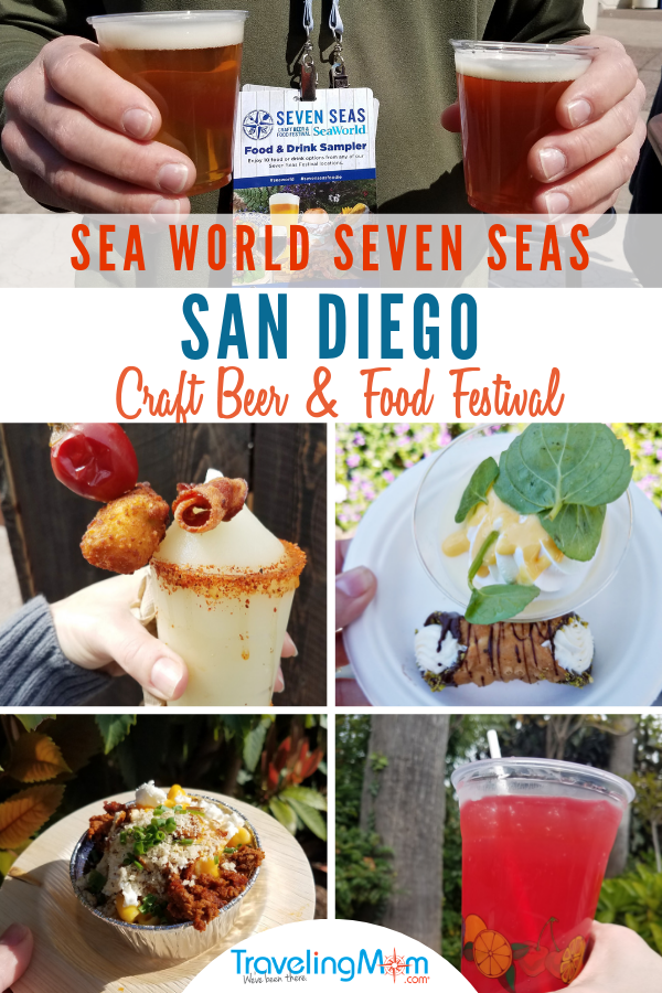 The Seven Seas SeaWorld San Diego Food Festival is an annual spring time celebration of craft beer and gourmet food. Get all the tips on this year's event including all of the international foods, local breweries and how to get the best prices on dining. Find out about event entertainment and whether a Tasting Sampler lanyard is the best value at this California special event. #SeaWorld #SanDiego #TMOM | Traveling Mom | Travel with Kids | Family Travel | SoCal | Theme Park | Amusement Park