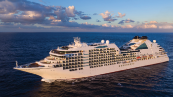 The Seabourn Encore cruise ship.