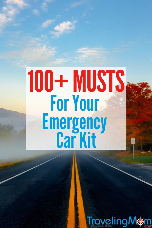Get your car packed with your next road trip with over 100 of the essential items for emergencies, no matter the size. #TMOM #FamilyTravel