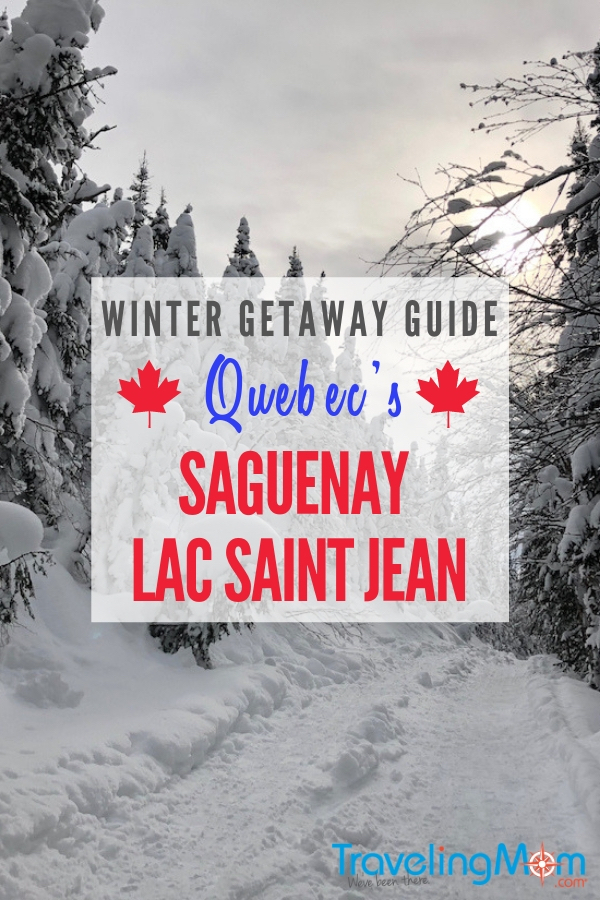 Celebrate the winter landscape by exploring with the help of a snowmobile or snowshoes. Learn how to ice fish or even dogsled in Quebec's Saguenay Lac Saint Jean region of Canada. Here's a getaway guide of what to do, where to stay and where to eat in Saguenay. #TMOM #Canada #QuebecOriginal