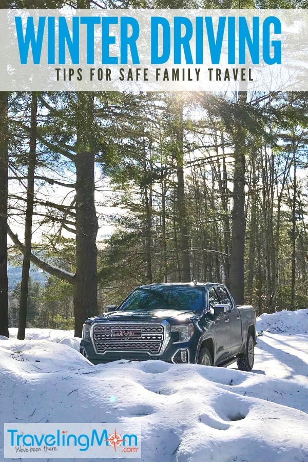 Your family's safety is priority #1 and, in winter, that can be a challenge. These winter driving tips can help. Full-size luxury trucks, like the 2019 GMC Sierra Denali, offer a confident ride, thanks to innovative safety technologies. Other important winter driving tips include keeping a winter emergency kit in your car. Here's what to include. #familytravel #wintertravel #skiweekend #traveltips