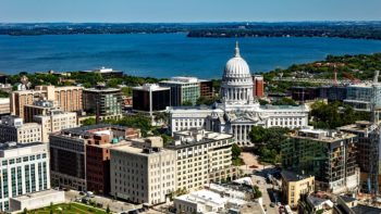 Birdseye view of Madison wi