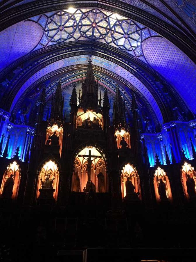 The light show Aura at the Notre-Dame Basilica is among fun things to do in Montreal