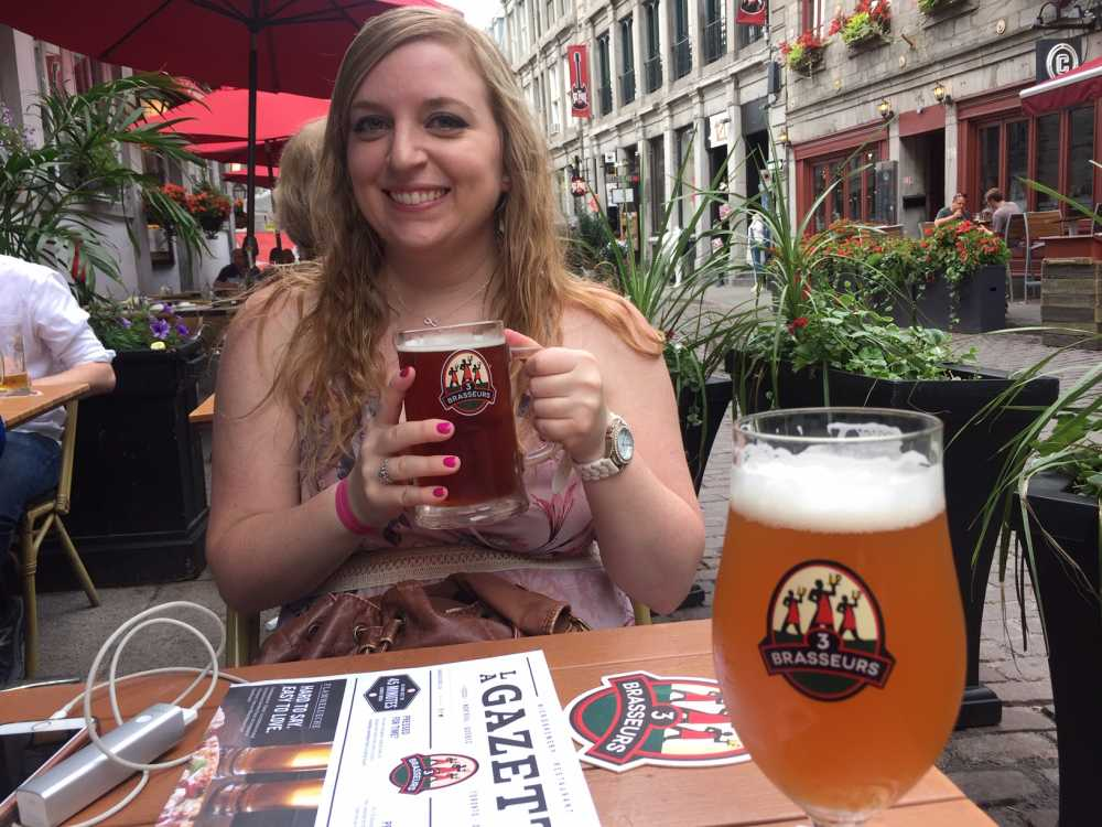 Fun things to do in Montreal include happy hour on Rue Saint-Paul