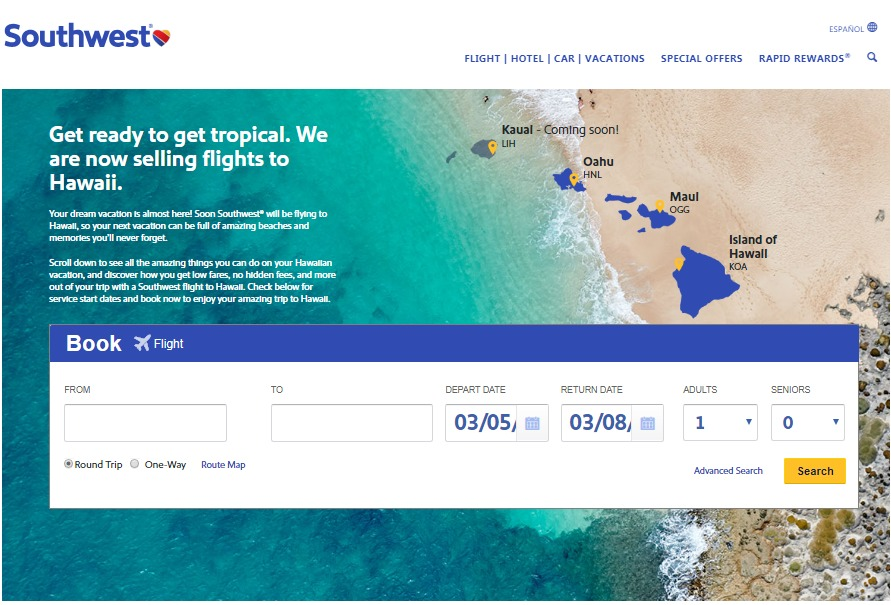 Southwest has started selling tickets to Hawaii! Learn how to book your Southwest Hawaii ticket.