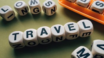 travel spelled out in a word game