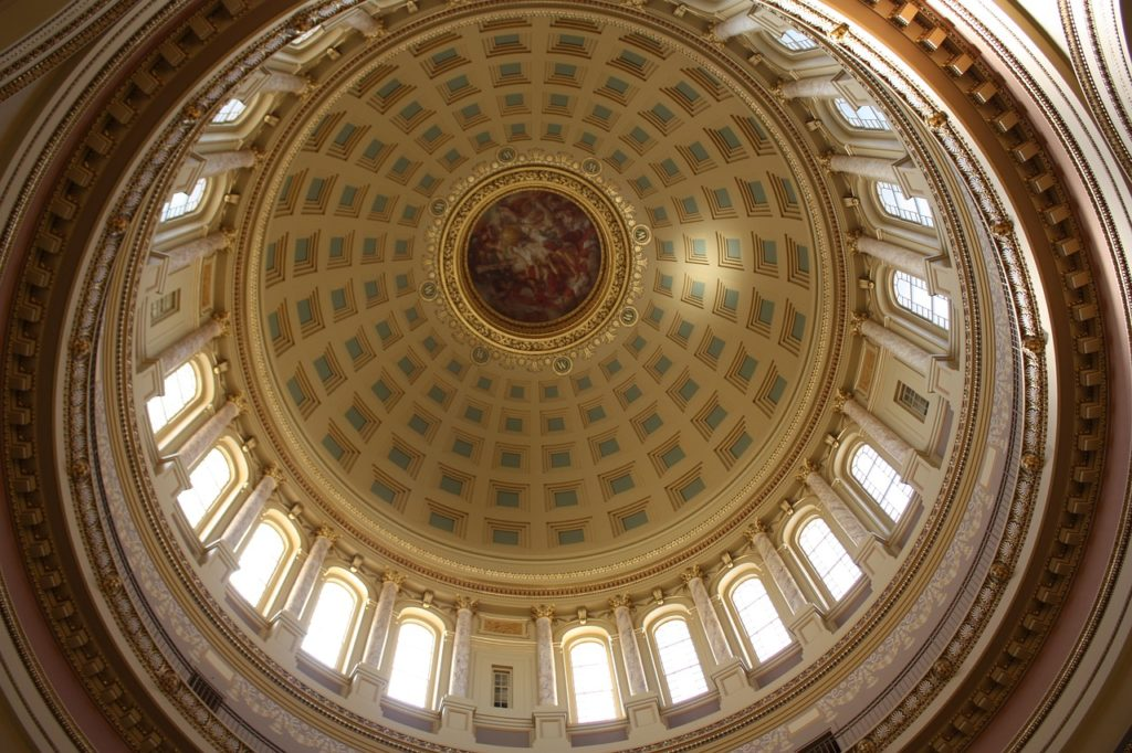 The State Capitol Building in Madison offers free tours and stunning architecture.
