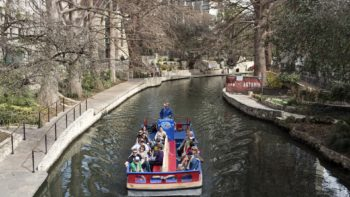 Why walk when you can take a boat ride around San Antoinio Texas?