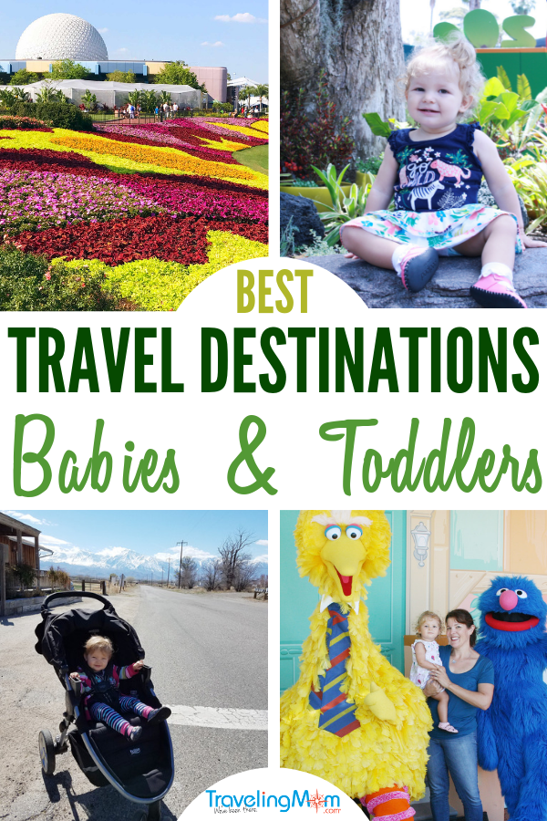 Where are the best family travel destinations with toddlers and babies? Travel planning with little ones includes choosing kid-friendly locations. This is your guide to traveling with babies and toddlers including where to go, first Disney vacation tips, road trip advice, and navigating airplane travel with babies. #TMOM #Babies #Toddlers #DisneyTips #TravelingMom | Travel with Kids | Family Travel | Disney Travel | Baby Travel | Toddler Travel