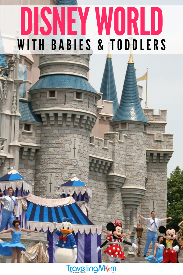 Disney parks are a perfect first family travel destination with toddlers and babies. This is the Traveling Mom complete guide to traveling with babies and toddlers including where to go, first Disney vacation tips, road trip advice, and navigating airplane travel with babies. #TMOM #Babies #Toddlers #DisneyTips #TravelingMom | Travel with Kids | Family Travel | Disney Travel | Baby Travel | Toddler Travel