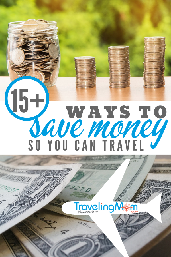 We all want to explore the world. We want to show our kids new things. Here are 15+ money saving tips to work towards that goal. #travelgoals #travelingmom #savemoney #financialtips