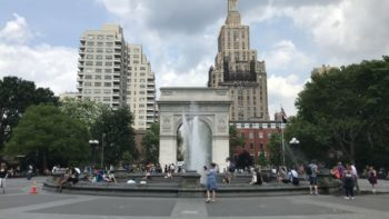 Washington Square Park NYC Dear Evan Hansen Teenagers Trip