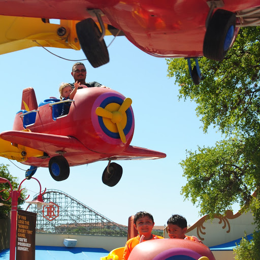 Six Flags Fiesta Texas isn't just giant coasters. There are some great options for younger kids.
