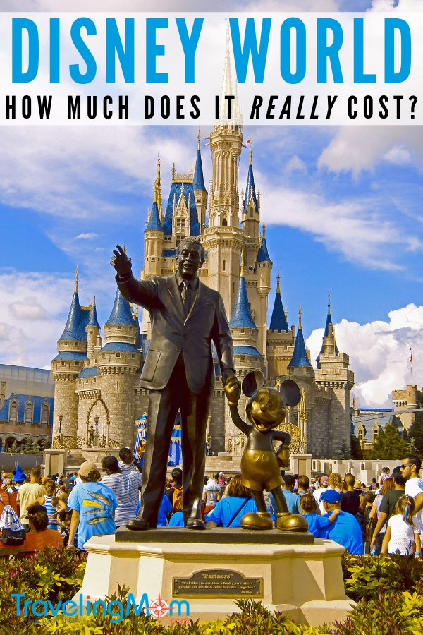 Pin for post on how much it really costs to go to Disney World