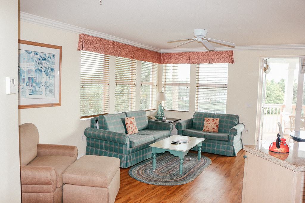 You're tempted – but is the Disney Vacation Club Worth It? Check out this cute living room area in Disney's Old Key West Resort