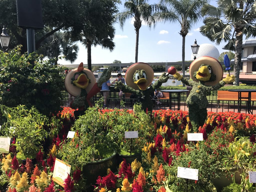 Fun topiaries are all over Epcot during the Flower and Garden Festival.