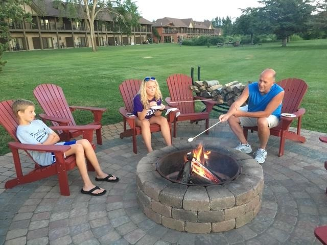 Fire pits are a nightly ritual at Madden's on Gull Lake Resort in Minnesota