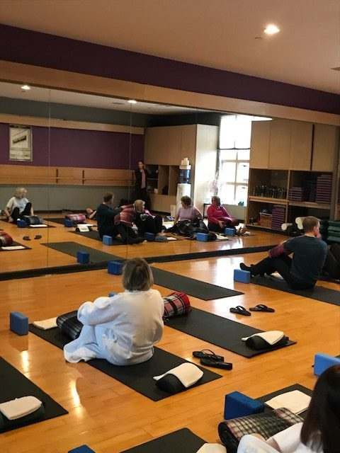 Meditation class at the spa at Norwich Inn