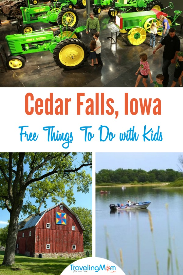 FRee things to do in Cedar Falls with Kids on TravelingMom