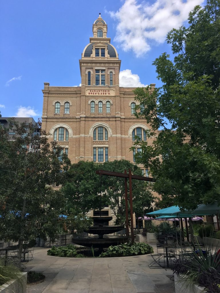 The Pearl Brewery campus in San Antonio holds weekly farmers market. One of my favorite free things to do in San Antonio!