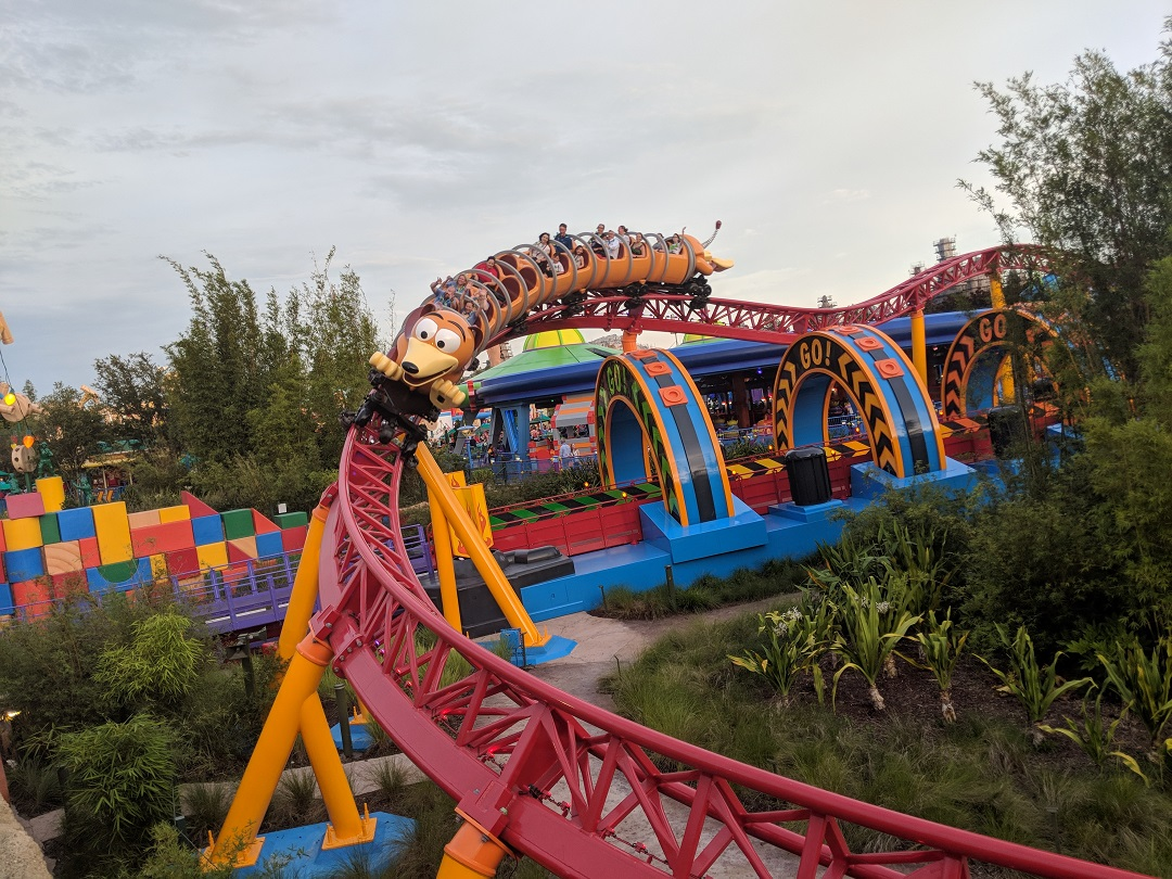 Take advantage of the short wait times during Disney After Hours to ride Slinky Dog Dash.
