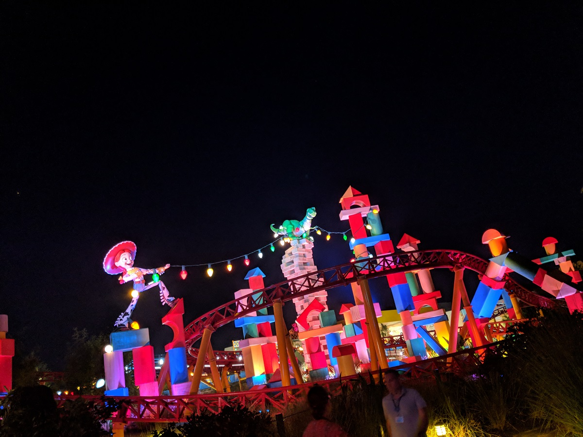 Watch Toy Story land light up during Disney After Hours.