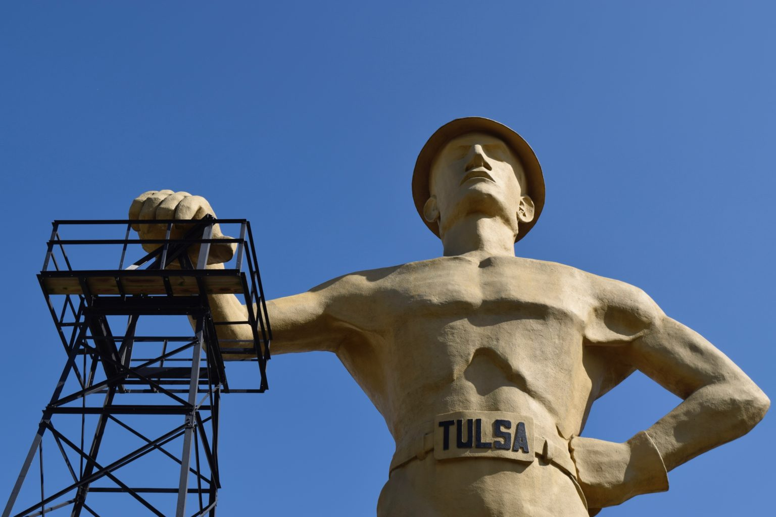 Golden Driller, a popular free thing to do in Tulsa, Oklahoma