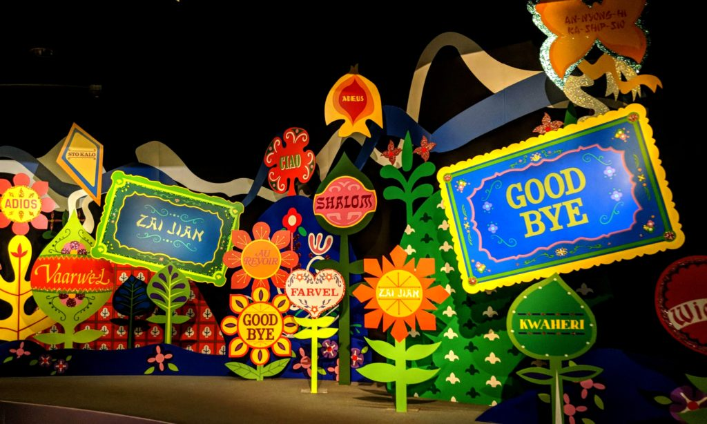 it's a small world ride, one of the rides that works for all ages at Disney World.