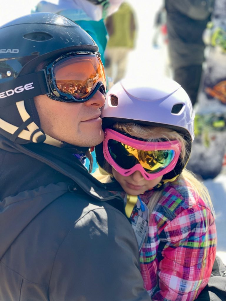 Family time at a ski resort in New Mexico.