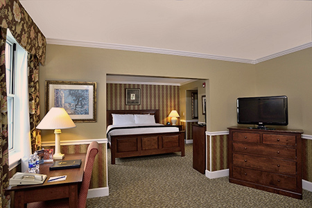 The guest rooms at the Spa at Norwich Inn