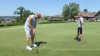 Golfing at Madden's on Gull Lake in Minnesota.