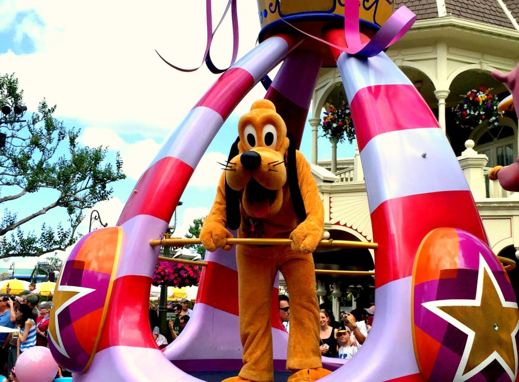 Pluto as seen in the Festival of Fantasy Parade at Magic Kingdom