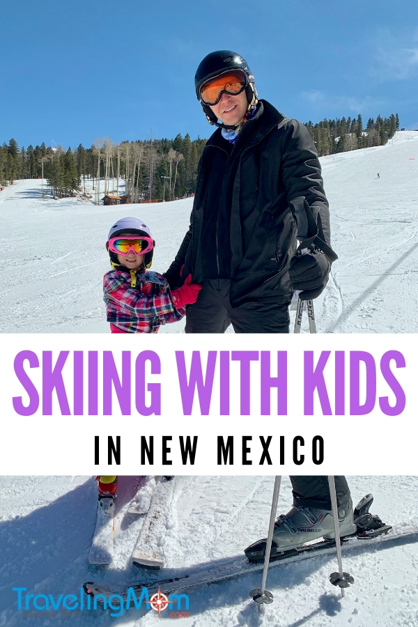 Family ski trips can be a lot of fun. Check out our photos from our vacation in Angel Fire, New Mexico a family-friendly ski resort where kids ski free. #skiing #newmexico #familytravel #travel