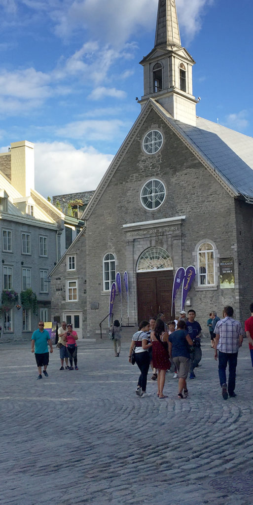 Fun things to do in Quebec City include seeing the Notre-Dame-des-Victoires church