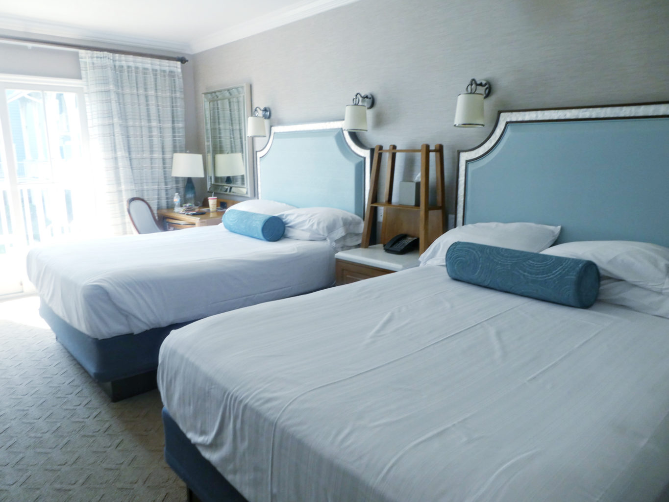 hotel room with two beds - TravelingMom