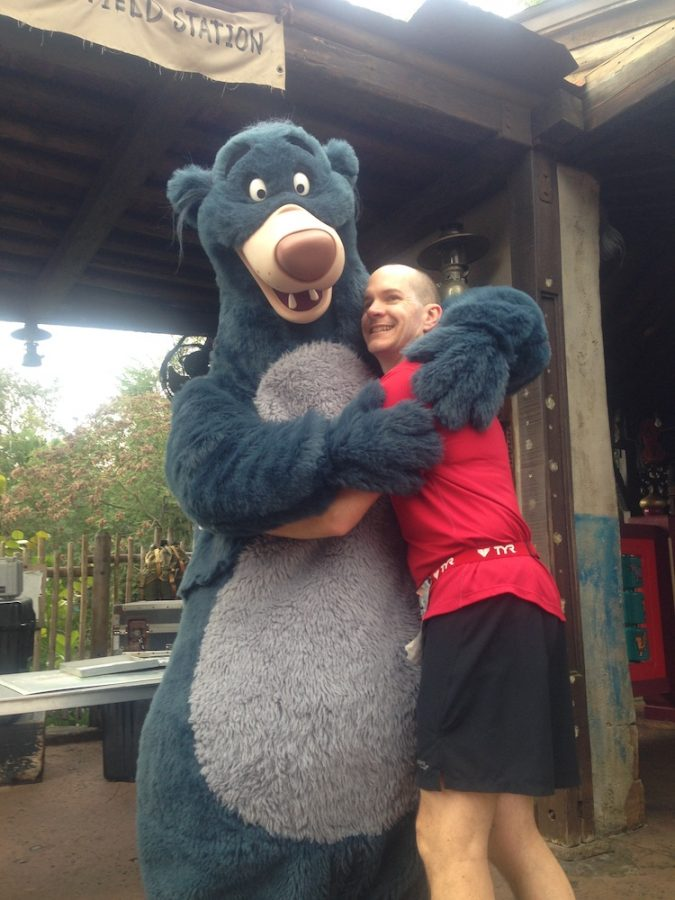 Hanging out with Baloo during a Disney Marathon
