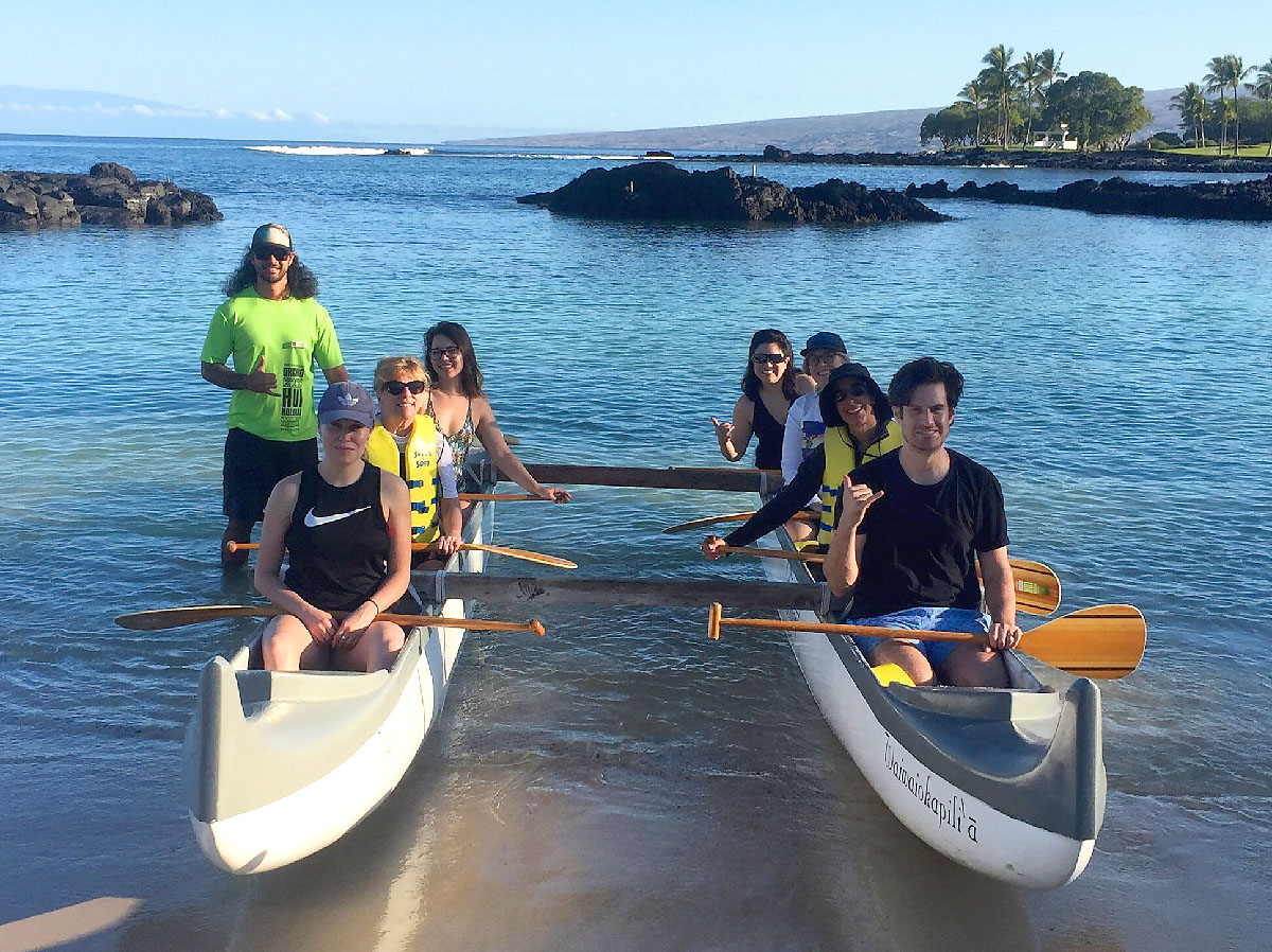 soak up Hawaiian culture on a sunrise canoe voyage