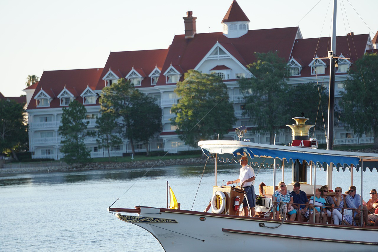 Boat transportation at Disney's Grand Floridian