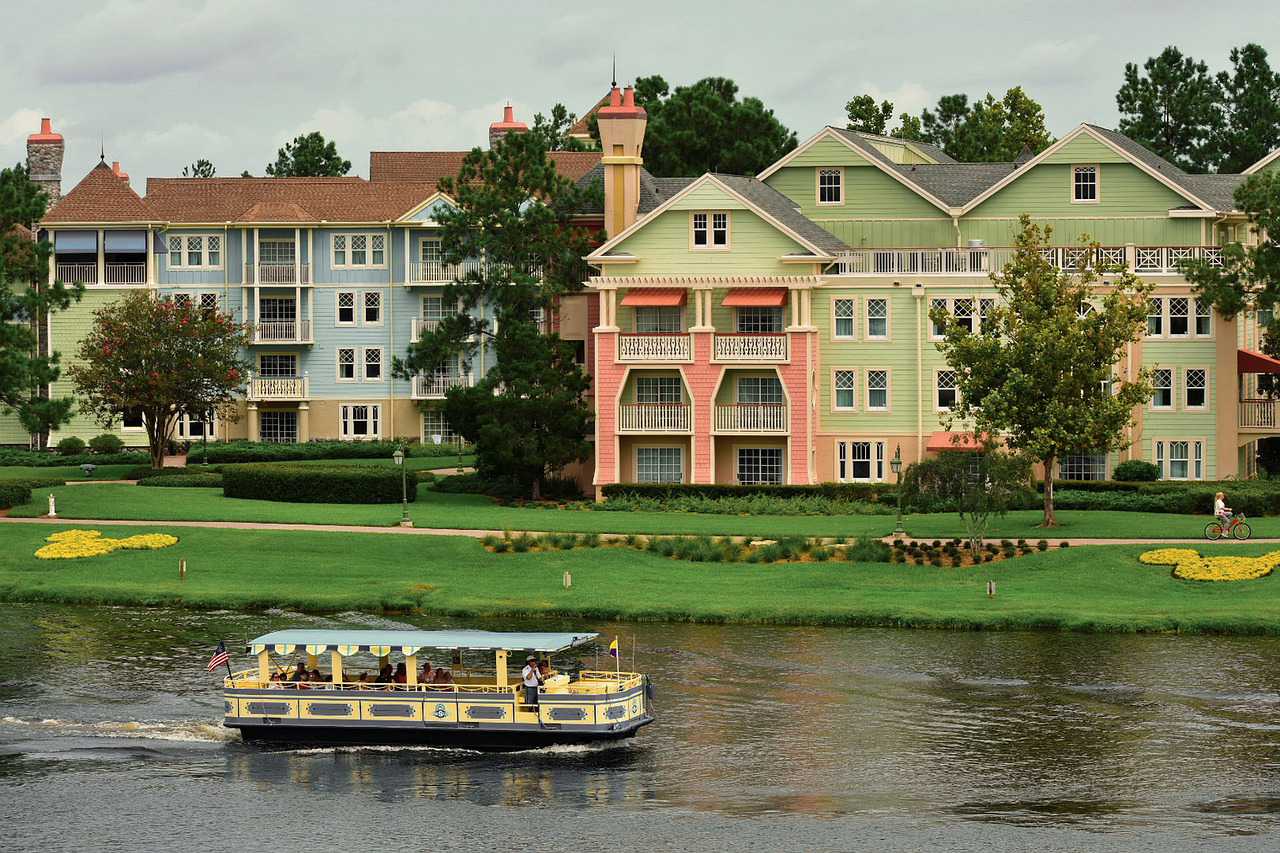 Friendship boat at Disney World