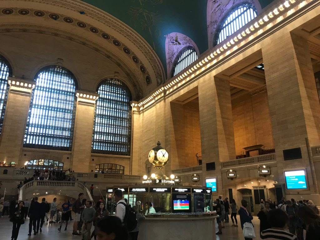 Grand Central in New York clock