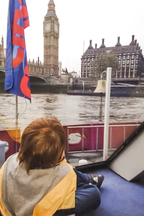You will want to ride the boat when visiting London with toddlers