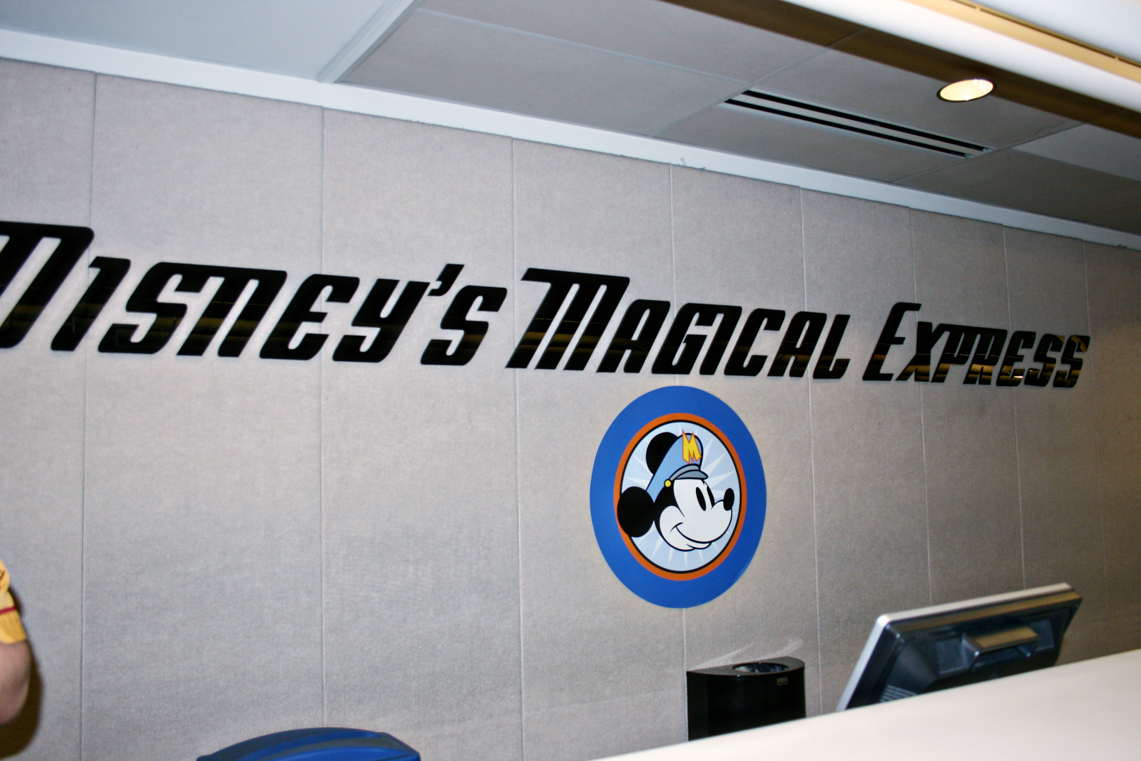 Disney's Magical Express check in desk at the Orlando International Airport